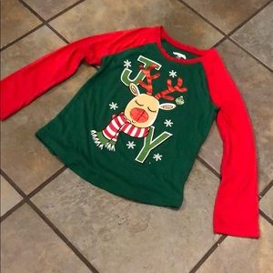 Girls Christmas t-shirt reindeer JOY size 4/5